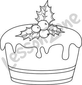 Christmas pudding B&W