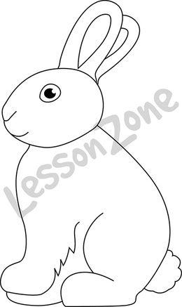 Chocolate bunny B&W