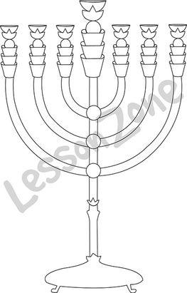 Hanukkah Menorah B&W