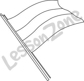 Kwanzaa flag B&W