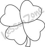 4-leaf clover B&W