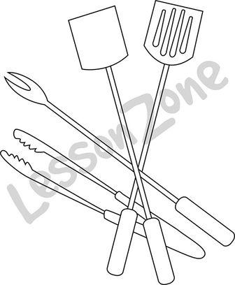 BBQ tools B&W