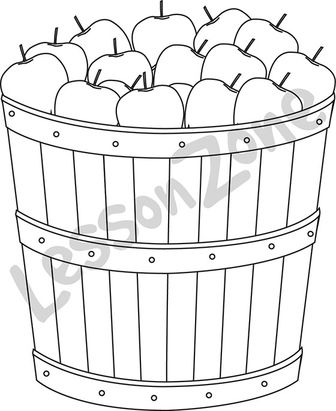 Barrel of apples B&W