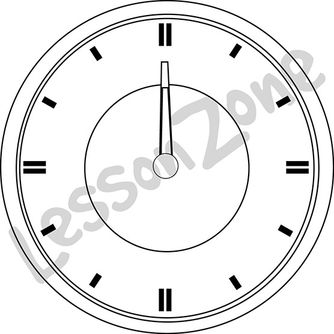 Clock face hour B&W