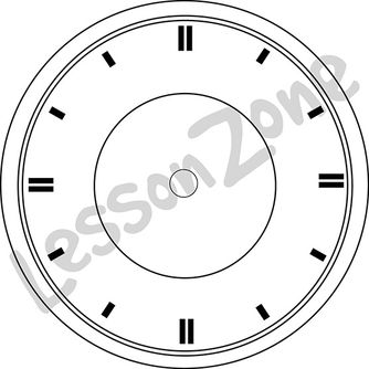 Clock face with no hands B&W