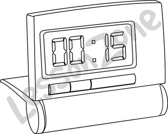 Digital clock face 1/4 hour B&W