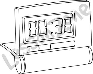 Digital clock face 1/2 hour B&W