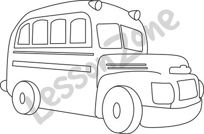 School bus  B&W