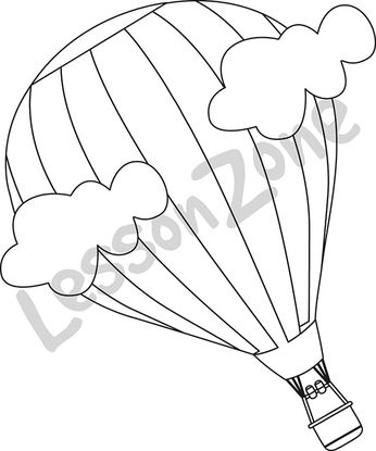 Hot-air balloon B&W