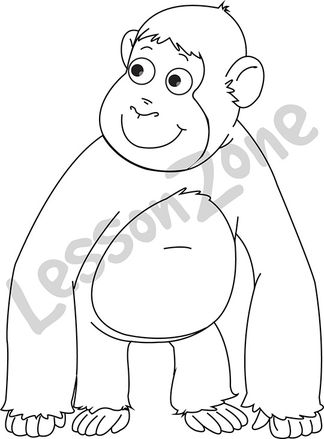 Chimpanzee  B&W