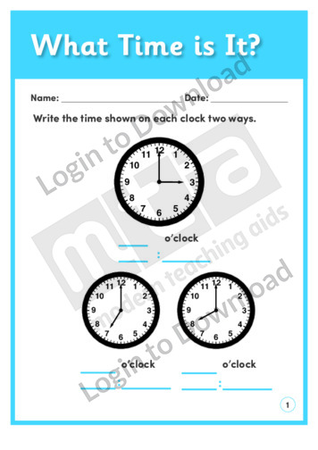 What Time Is It? 1