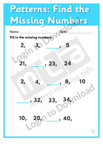 how to find the average with missing numbers