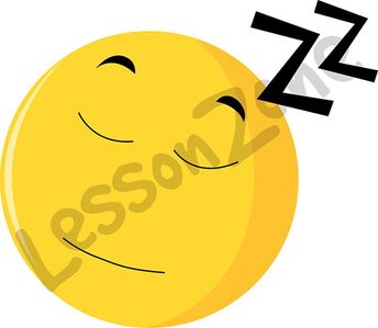Emoticon asleep