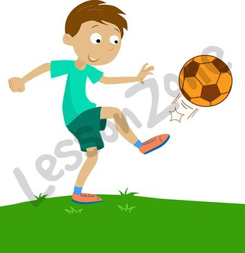 Child playing with ball