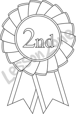 2nd place rosette B&W