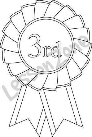 3rd place rosette B&W