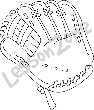 Baseball glove B&W
