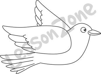 Bird with spread wings B&W