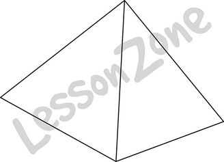 3D shape pyramid B&W