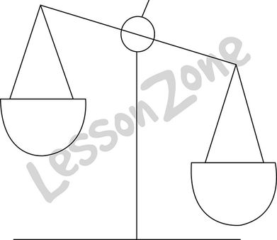 Balance scales B&W