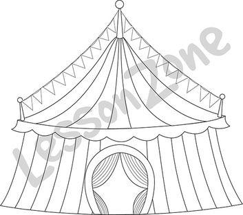 Circus tent B&W