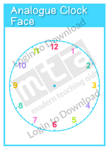 Analogue Clock Face Template