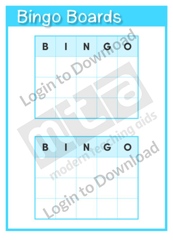 Bingo Boards Template