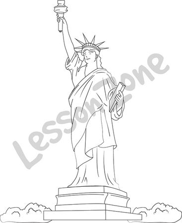 Statue of Liberty B&W