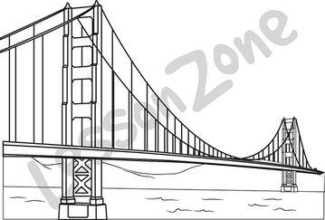 Golden Gate Bridge B&W
