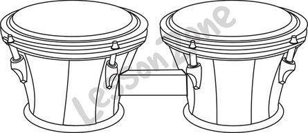 Bongo drum B&W