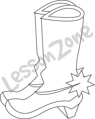 Cowboy boots B&W