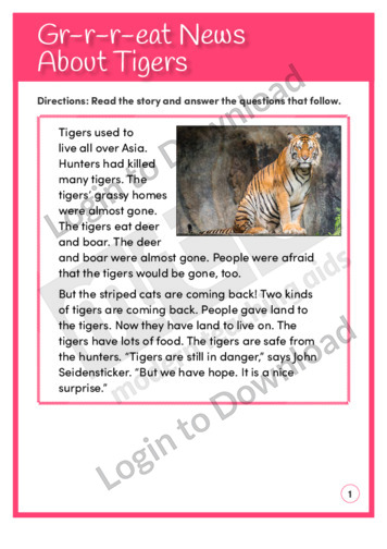 Gr-r-r-eat News About Tigers (Level 3)