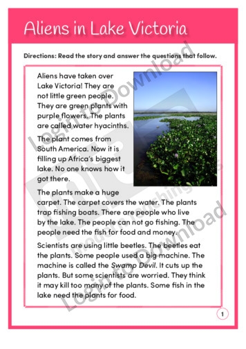 Aliens in Lake Victoria (Level 3)