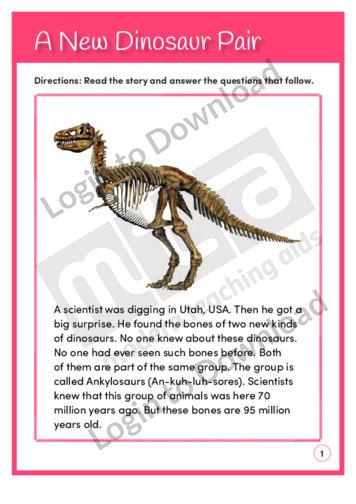 A New Dinosaur Pair (Level 4)
