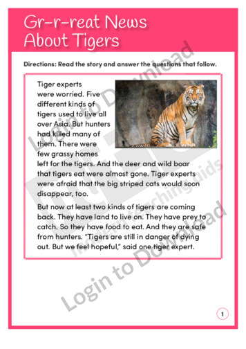 Gr-r-r-eat News About Tigers (Level 4)