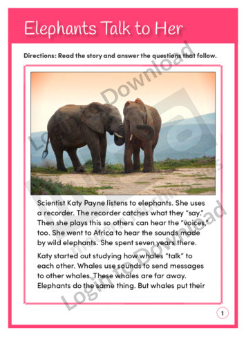 Elephants Talk to Her (Level 4)