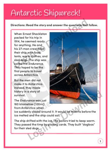 Antarctic Shipwreck! (Level 5)