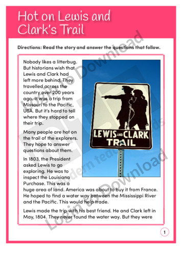 Hot on Lewis and Clark's Trail (Level 5)