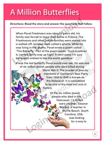 A Million Butterflies