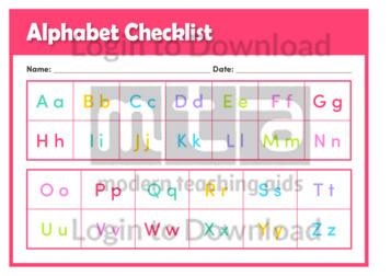 Alphabet Checklist
