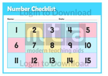 Number Checklist