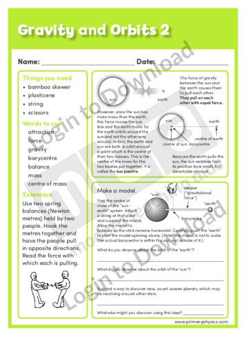 Gravity and Orbits 2