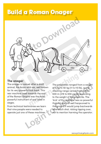 Build a Roman Onager