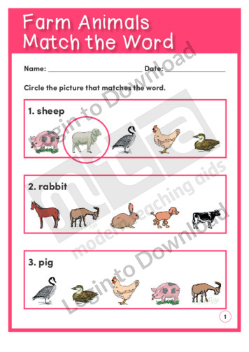 Farm Animals Match the Word