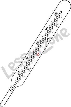 Digital thermometer metric B&W