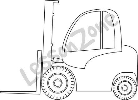 Forklift B&W