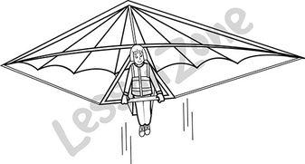 Hang glider B&W