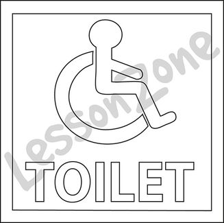 Disabled toilet B&W