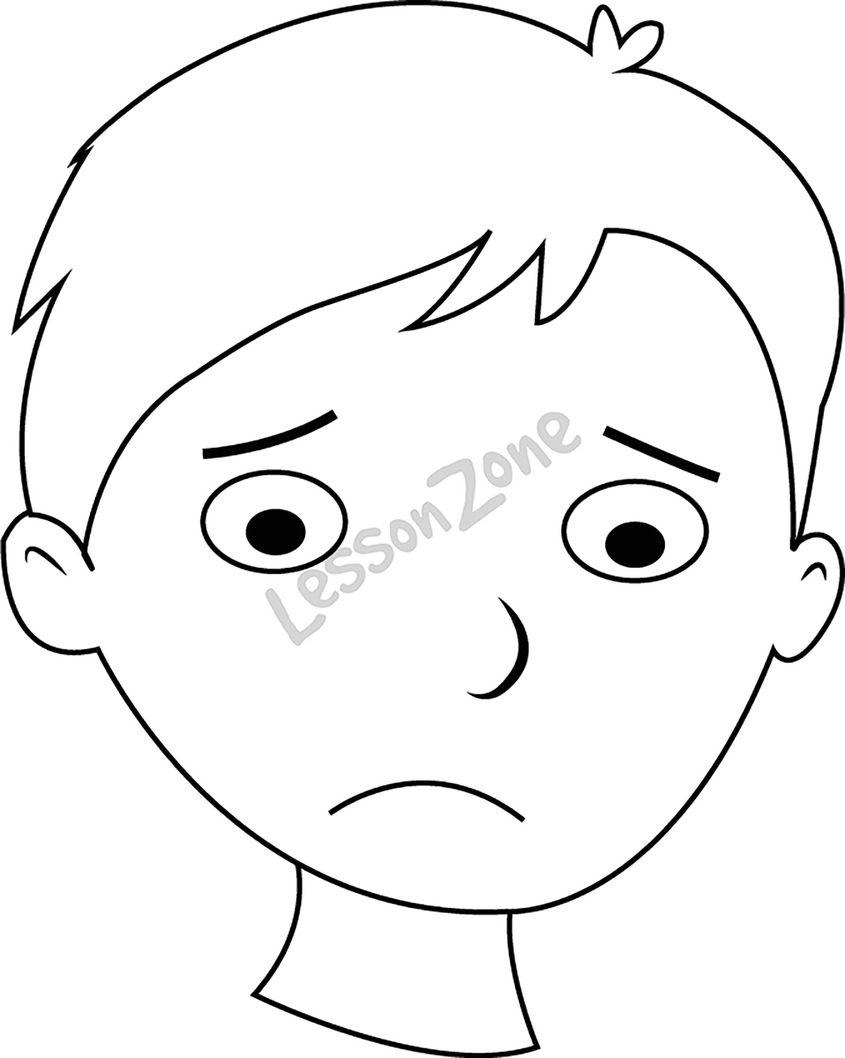Sad Face Coloring Page  GetColoringPagescom