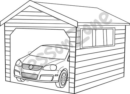 coloring book with garage coloring pages